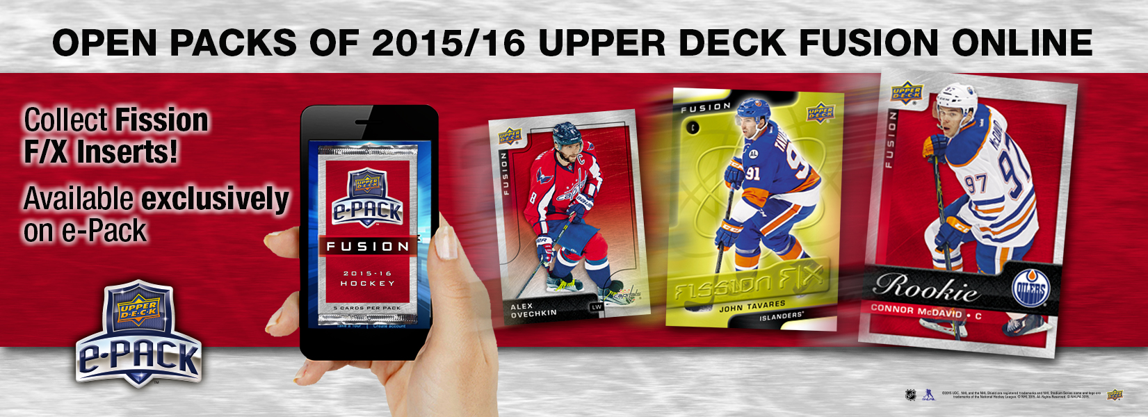 Open packs of 2015/16 Upper Deck Fusion Online